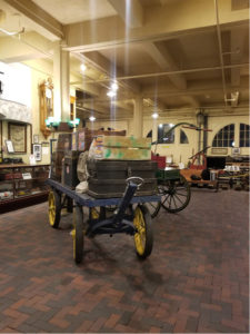 wagons in museum
