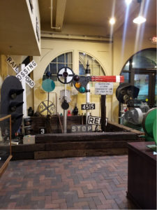 items in the railroad museum