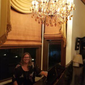 Brandy K at piano